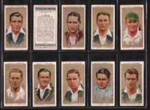 Cigarette cards Cricketers 1934 set of 50 By Players